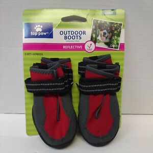 New Top Paw outdoor boots Large dog boots reflective four Boots