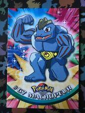Edition1 Neuf carte 67 Machopeur TOPPS TV animation 99 logo bleu Pokémon booster