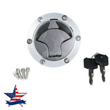 Fuel Gas Tank Cap Cover Key Fit For Kawasaki Ninja 250R 2008 2009 2010 2011 2012