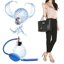 Mode 100ML Bleu Vintage Perfume Bottle atomiseur vaporisateur rechargeable verre