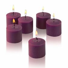 Purple Unscented Votive Candles Set of 12 Burn 10 Hours