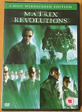 MATRIX REVOLUTIONS DVD widescreen edition Keanu Reeves