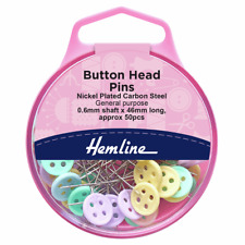 Easy Grip Button Head pins in reusable box by Hemline