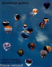 Catalogue de Vente Sculplures Montgolfieres Art Moderne Contemporain Aerostation