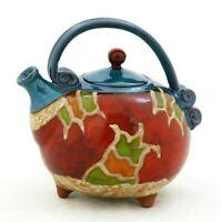 Ceramic handmade teapot, Art pottery teapot, Unique quirky teapot,Stoneware teap