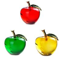 Crystal Apple Paperweight Pretty Crafts Art&Collection Christmas Gifts Home K9V6