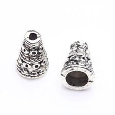 15Pcs Antique Silver Tibet Tibetan Cone Bead End Cap Wholesale Findings 10x4x8mm
