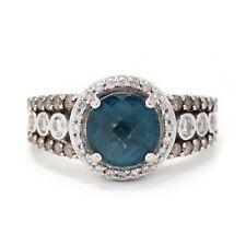 14k White Gold, London Blue Topaz & Diamond Statement Ring, LeVian