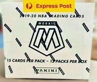 Mosaic 2019 2020 Panini NBA Basketball Sealed Cello Box 12 Multi Packs ZION JA