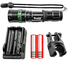 3-Mode 7W 500LM Gree LED Bike Light Lamp Flashlight + Battery + Charger + Mount