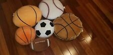 Kids Boys Decorative Sports Balls Throw Pillows!