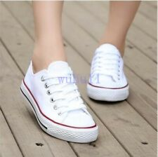 Hot Unisex Men's Chic Round Toe Loafers Sneakers Lace Up Canvas Flat Causal Shoe