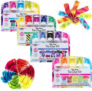 TULIP One Step Fabric Tie Dye Kit Rainbow Neon Carousel Ultimate 5 Colours Kits