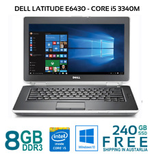 "Dell Latitude E6430 Laptop Core i5 3340M 8Gb 240 Gb SSD HDMI WiFi 14"" WIN10P"