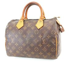Authentic LOUIS VUITTON Speedy 25 Monogram Boston Handbag Purse #37041