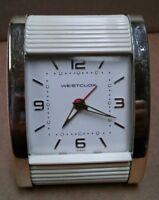 Vintage 1980 Westclox ivory plastic Travalarm II alarm clock Taiwan - Serviced
