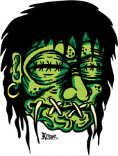 Green Shrunken Head STICKER Decal Kruse RK13 Roth Like