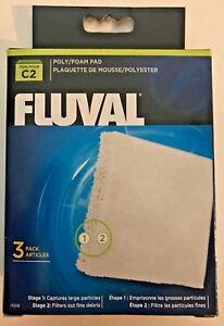 Fluval Hagen C2 Power Filter Polyester Poly / Foam Pad Media 3 pack 14008