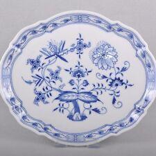 Meissen Zwiebelmuster mehrpassiges Tablett / Platte, 27,5 x 23 cm