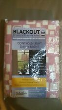 "Roon Darkening Curtains -blackout drapes  single panel 50"" W ×95"" rose"