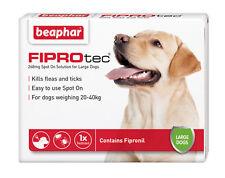 Beaphar Fiprotec Spot On Large Dogs (20-40kg) 1 Treatment Flea Tick 5 Weeks