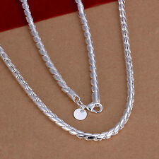 XMAS Wholesale sterling solid silver chic jewelry charm chain necklace BN608+box