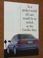 1991 Toyota Corolla Seca Liftback original Australian 4 page brochure