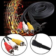 3.5mm Mini AV to 3 RCA Male Adapter Audio Video Cable Stereo Jack Adapter Cord