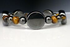 Magnetic Hematite Healing ARTHRITIS PAIN Bracelet Tigers Eye with Clasp