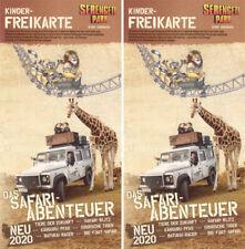 2 Stück - Kinder Freikarte Serengeti Park Hodenhagen  – Wert 55,00 € -