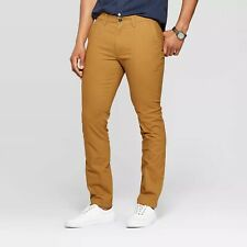Goodfellow & Co Men's Skinny Fit Chino Pants - Brown Decaf - Various Sizes