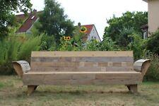 Gartenbank aus Holz   selbstgebaut   Vintage   Recycling Holz   Retro Möbel