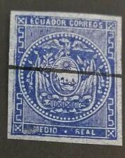 1865 Imperf: 1/2 r blue - used nice example