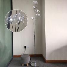 Crystal Dandelion LED Living Room Floor Lamp Modern Chrome Bedroom Landing Light
