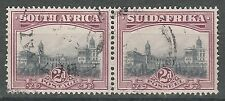 SOUTH AFRICA 1927 UNION BUILDINGS 2D PAIR LONDON PRINTING PERF 14