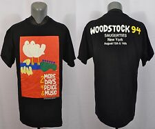VTG Woodstock 1994 T-Shirt XL Double Sided Concert NIN Green Day Metallica 90's
