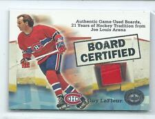 2001-02 Fleer Greats of the Game Guy LaFleur Board Certified GU BOARD RELIC HOF