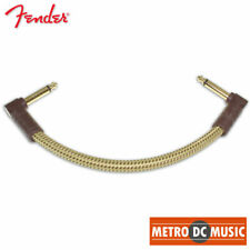 "Fender Deluxe Series 6"" Tweed Right-Angle Pedal Patch Cable Cord 1/4"" NEW"