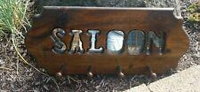 SALOON Wooden & Mirror Sign