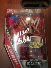 ALEXA BLISS Signed WWE Elite Collection Wrestling Figure DIVAS Raw Smackdown