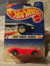 1995 Vintage Hot Wheels_Model Series_'58 Corvette Coupe_Pink&Chrome_03/12_Card