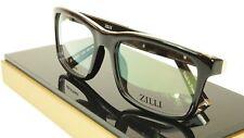 ZILLI Eyeglasses Frame Acetate Leather Titanium France Hand Made ZI 60001 C03