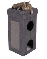 Soft Cat Scratching Tower Foldable Sisal Scratching Mat Sheepskin Bed 2 Dens