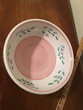 Handpainted Italian Caleca Pink Garland Bowl