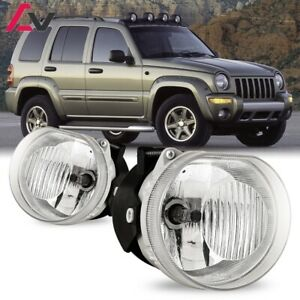 For Jeep Liberty 02-04 Clear Lens Pair Bumper Fog Light Lamp OE Replacement DOT