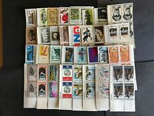 U.S. 6 Cent Plate Blocks Of 4 (Four) With 32 Different  MNH,