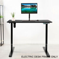 Electric Stand Up Desk Frame Height Adjustable Single Motor Memory Control Black