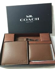 Authentic COMPACT ID WALLET IN SPORT CALF LEATHER COACH F64118 COACH MSRP:$225
