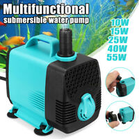 110V 10W - 55W Submersible Water Pump Strong Suction For Aquarium Fish Tank Home
