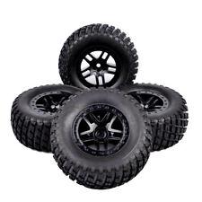 Set RC 1/10 Tires&Wheel Rim Short Course Truck 12mm Hex For TRAXXAS SlASH